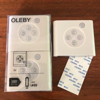 イケア(IKEA)の新品未使用 IKEA OLEBY センサーライト 3個(その他)