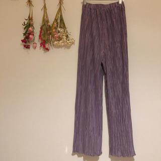 ロキエ(Lochie)のpleats frill pants(lavender)(カジュアルパンツ)