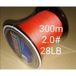 YEMIHT BRAID PEライン300mオレンジカラー2.0#28LB(釣り糸/ライン)