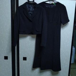 ベルメゾン(ベルメゾン)のお値下げ ベルメゾン 喪服 ブラックフォーマル ジャケット ワンピース 7号(礼服/喪服)