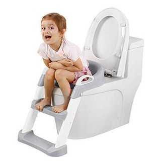 グレーS子供用 補助便座 トイレトレーナー 【最新改善版 】トイレトレーニング