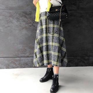 アメリヴィンテージ(Ameri VINTAGE)のMYINE マイン ツイードフレアスカート(ひざ丈スカート)