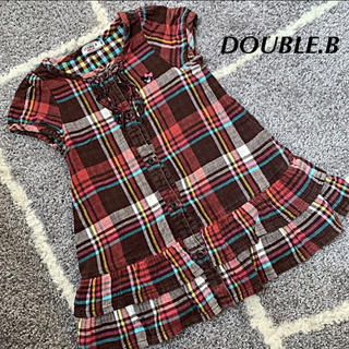 ダブルビー(DOUBLE.B)のDOUBLE.B ワンピース 100(ワンピース)