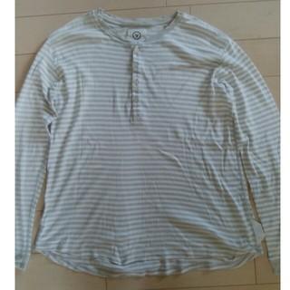ヴィスヴィム(VISVIM)のvisvim(ビズビム) ヘンリーネックボーダーカットソー 表示サイズ:M(Tシャツ/カットソー(七分/長袖))