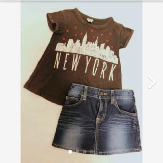 エドウィン(EDWIN)の値下げしました!女の子Tシャツデニムスカートコーデセット(Tシャツ/カットソー)