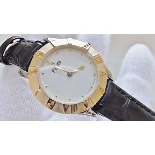 フェンディ(FENDI)のFENDI フェンディ 2000L 女性用 クオーツ腕時計 電池新品 B2538(腕時計)