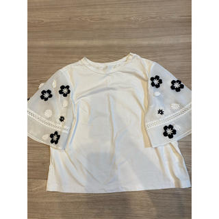 チェスティ(Chesty)のchesty フラワースリーブTシャツ(Tシャツ(半袖/袖なし))