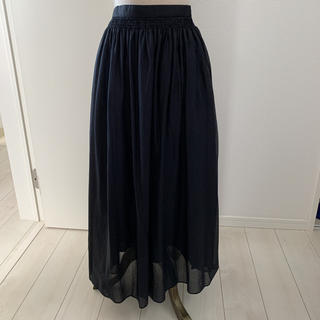 デミルクスビームス(Demi-Luxe BEAMS)のデミルクスビームス フレアロングスカート ネイビー サイズ36(ロングスカート)