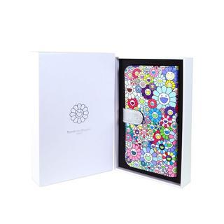 村上隆 手帳型スマホケース【Flower Flip Case】Mサイズ お花柄(Androidケース)
