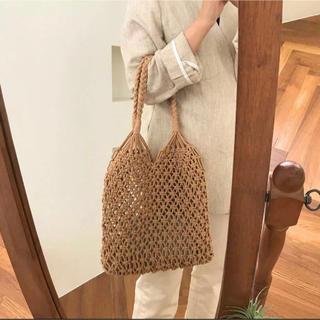 ローリーズファーム(LOWRYS FARM)のSALE!【BG-2A】paper bag with purse-brown-(トートバッグ)