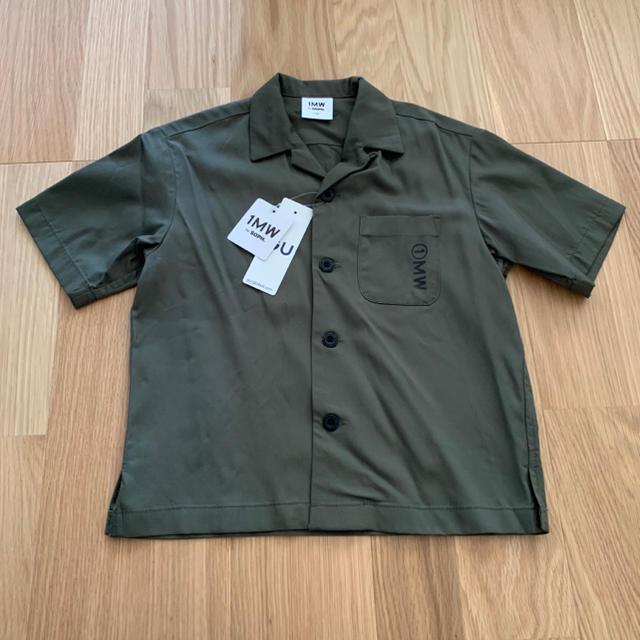 GU(ジーユー)のジーユー  オープンカラーシャツ キッズ/ベビー/マタニティのキッズ服男の子用(90cm~)(ブラウス)の商品写真