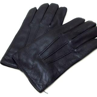 コーチ(COACH)のコーチ 手袋 メンズ美品  - 黒 レザー(手袋)