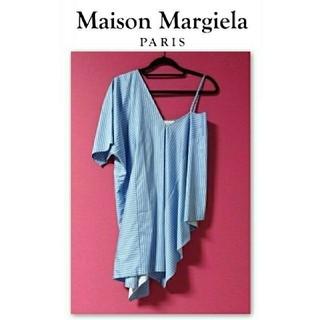 マルタンマルジェラ(Maison Martin Margiela)のMaison Margiela マルタンマルジェラ 変形 ブラウス ストライプ(シャツ/ブラウス(半袖/袖なし))