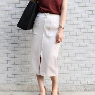 ノーブル(Noble)のNOBLE  ダブルクロス フープジップタイトスカート(ひざ丈スカート)
