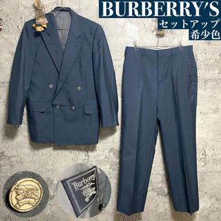 バーバリー(BURBERRY)の【希少】BURBERRY バーバリー 金ボタン ダブルジャケット スーツ 4B(セットアップ)