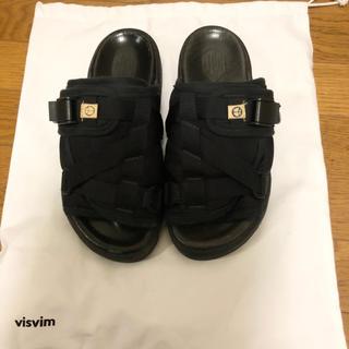 ヴィスヴィム(VISVIM)の美品 visvim CHRISTO BLACK M 正規品(サンダル)