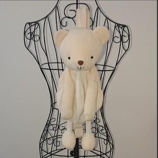 白クマぬいぐるみワンショルダーバッグ  オフホワイト リュックサック(リュックサック)