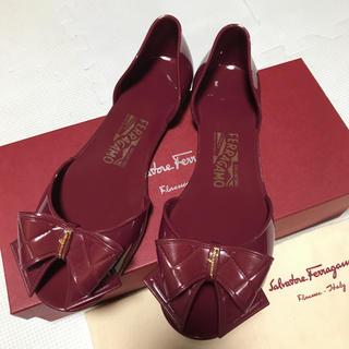 サルヴァトーレフェラガモ(Salvatore Ferragamo)のフェラガモ  ◆ラバーサンダル8 24㎝◆レインシューズ バレエシューズパンプス(レインブーツ/長靴)