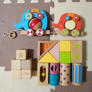 ミキハウス(mikihouse)の木のおもちゃ 積み木(知育玩具)