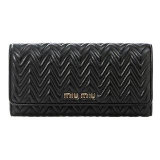 ミュウミュウ(miumiu)のミュウミュウ MIU MIU  長財布 黒 ブラック 新品(長財布)