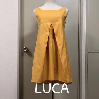 ルカ(LUCA)のLUCAのマスタード色キレイめチュニック ワンピース🌈(ひざ丈ワンピース)