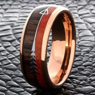 ハワイアン ウッド リング ローズゴールド 指輪 19号(リング(指輪))