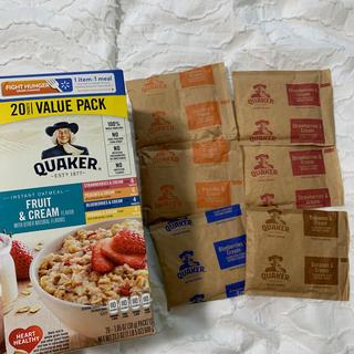 クエーカー オートミール フルーツ & クリーム お試し6袋セット(米/穀物)