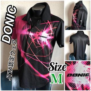 ドニック(DONIC)のDONIC美品!メンズ M 卓球ゲームウェア ピンクのフラッシュ模様がかっこいい(卓球)