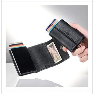 シップス(SHIPS)のShips   財布 スキミング防止 黒(折り財布)