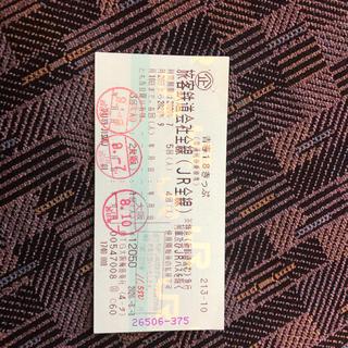 ジェイアール(JR)の専用 青春18きっぷ  残り2回(鉄道乗車券)