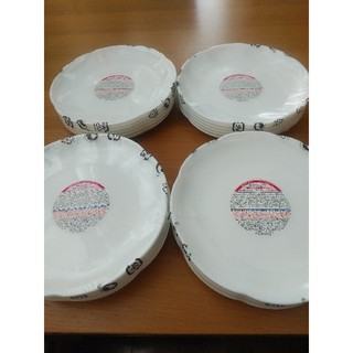 ヤマザキセイパン(山崎製パン)のヤマザキパン祭り 白いフローラルディッシュ 24枚セット (新品・未使用)(食器)