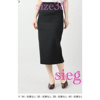 プラージュ(Plage)の【Plage】バックシャン ストレッチタイトスカート ブラック 38(ひざ丈スカート)