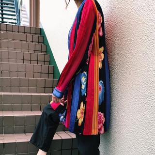 ロキエ(Lochie)の80s vintage Jeanne marc pleats jacket(ノーカラージャケット)