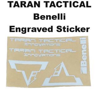 TARAN TACTICAL Benelli 刻印 メタルステッカー 1318r(カスタムパーツ)