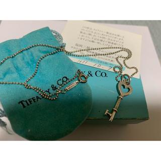 ティファニー(Tiffany & Co.)のティファニー ハート キー ハートキー ネックレス B2(ネックレス)