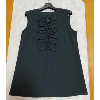 ルネ(René)のルネ フリル ブラウス 34 ブラック(シャツ/ブラウス(半袖/袖なし))