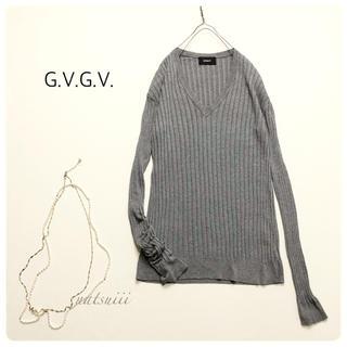ジーヴィジーヴィ(G.V.G.V.)のG.V.G.V. ロングスリーブ  Vネック リブ プルオーバー ニット(ニット/セーター)