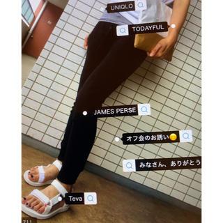 ジェームスパース(JAMES PERSE)のJAMES PERSE ジェームスパース 裾リブジャージパンツ ブラック(カジュアルパンツ)