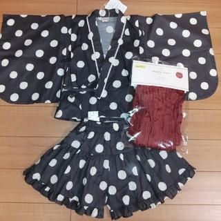 連休セール★新品☆ テータテート  浴衣ドレス 100 水玉 ドット柄