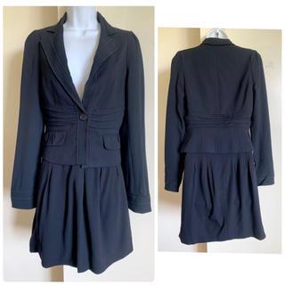 ビーシービージーマックスアズリア(BCBGMAXAZRIA)のBCBG Murphy ブラック ruched スカート スーツ $350(スーツ)