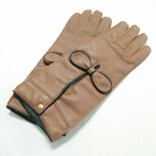 マルニ(Marni)のマルニ 手袋 レディース美品  ブラウン×黒(手袋)