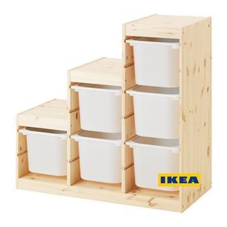 イケア(IKEA)の[地域限定] IKEA トロファスト フレーム階段 ボックス ホワイトM6(収納/チェスト)