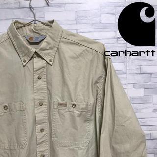 カーハート(carhartt)のcarhartt カーハート ワークシャツ BDシャツ ワッペンロゴ ベージュ(シャツ)