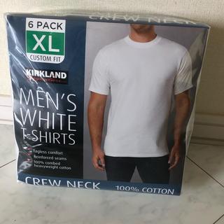 コストコ(コストコ)のKIRKLAND カークランド メンズ 白Tシャツ XLサイズ6枚入り(Tシャツ/カットソー(半袖/袖なし))