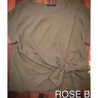 ローズバッド(ROSE BUD)のROSE BUD リネンブラウス(シャツ/ブラウス(半袖/袖なし))