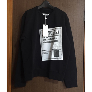 マルタンマルジェラ(Maison Martin Margiela)の黒48新品 メゾン マルジェラ ステレオタイプ スウェット シャツ ブラック(スウェット)