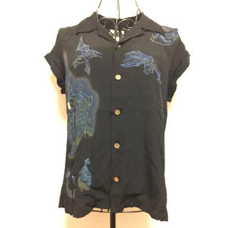 ヒステリックグラマー(HYSTERIC GLAMOUR)のヒス 半袖 オープンカラーシャツ(シャツ/ブラウス(半袖/袖なし))