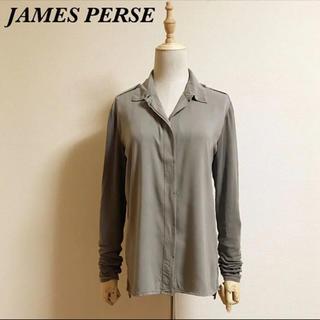ジェームスパース(JAMES PERSE)のJAMES PERSE 異素材切り替えシャツ サイズ2(シャツ/ブラウス(長袖/七分))
