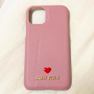 ミュウミュウ(miumiu)の【新品未使用】iPhone11proケース カバー ピンク(iPhoneケース)