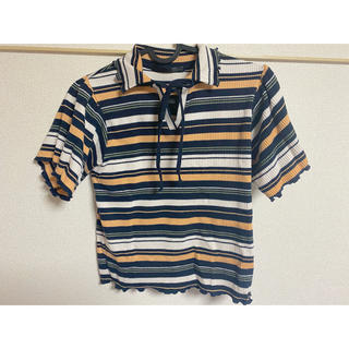 ヘザー(heather)のheather*トップス(Tシャツ(半袖/袖なし))